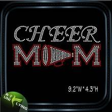 Cheer Mom Rhinestone Hotfix Designs