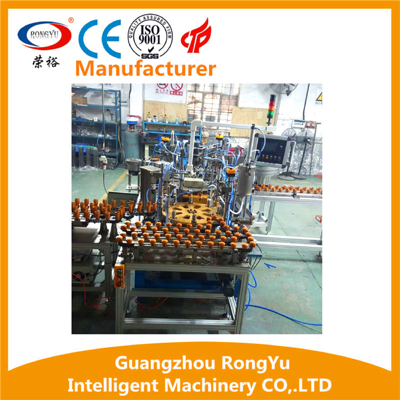 Rotary type LED bulb light semi-automatic assembly line Made in China