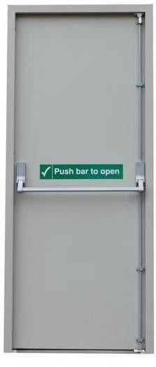 UL standard steel fire rated door with panic bar