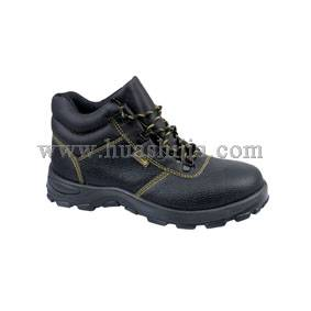 High-cut buffalo leather safety shoes
