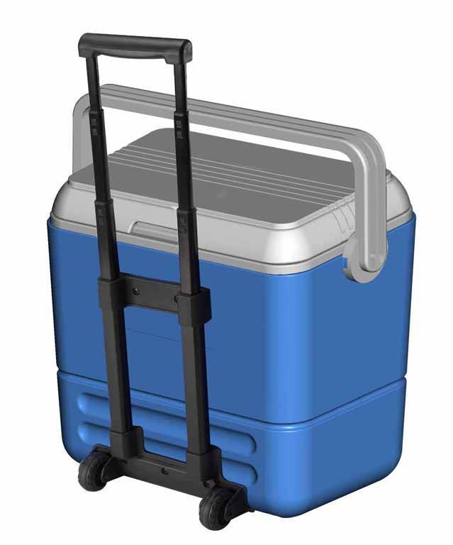36L plastic environmental fishing cooler box