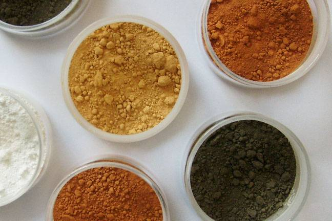 Red, Yellow, Black Micrometre Titanium Dioxide Powder