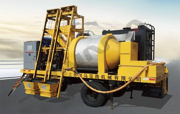 JQS-150A Asphalt mixture recycling plant is designed with towed intermittent forced mixing double dr