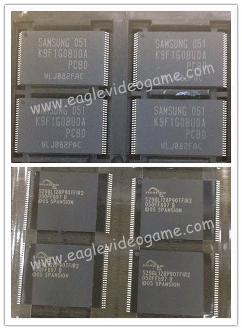 PS3 Nand IC Samsung K9F1G08UOA /Nor IC 05 SPANSION for PS3 Fat