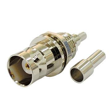 BNC43-316 BNC Connector with Crimp Jack, Bulkhead, Ideal for RG/316 Cable