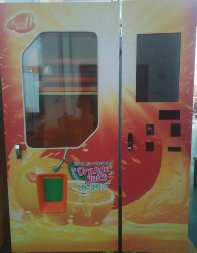 orange juice vending machine in china
