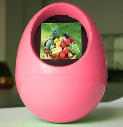 1.5 Egg Shape Digital Photo Frame