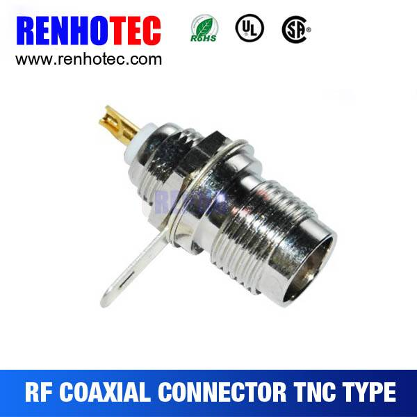 Top quality Female TNC Jack Bulkhead connector for RG174
