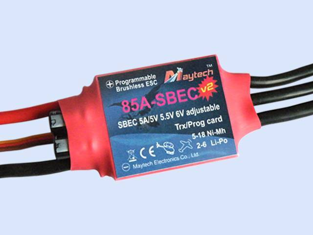 MayTech brushless electronic speed controller MT85A-SBEC-V2 (Harrier-Suprem V2)