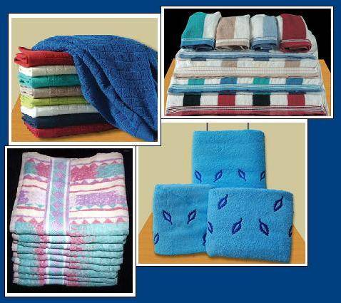 All Types of Towels, Golf Towels, Bath Towels, Hand/Face Towels Etc