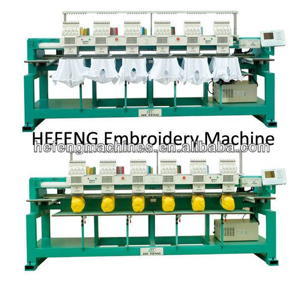Selling multi heads Cap/T-shirt embroidery machine