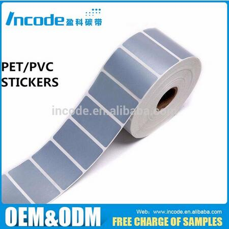 Waterproof silver blank PET PVC adhesive barcode stickers thermal transfer label for printer label