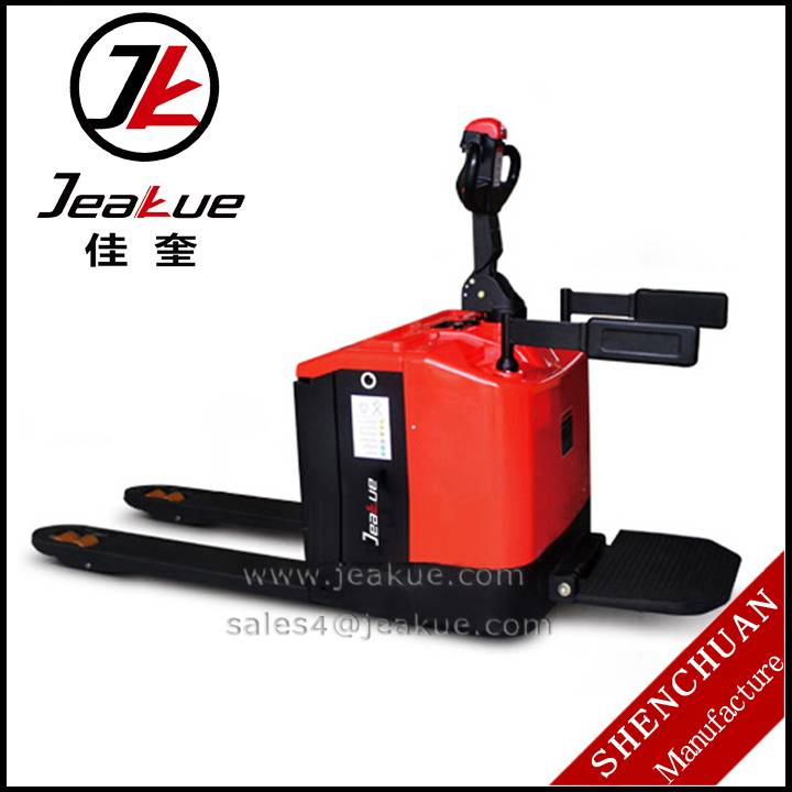 Hot sale Material Handling Tools 2. 0 T Stand-driving Type Electric Pallet Truck JACK (JAPT)