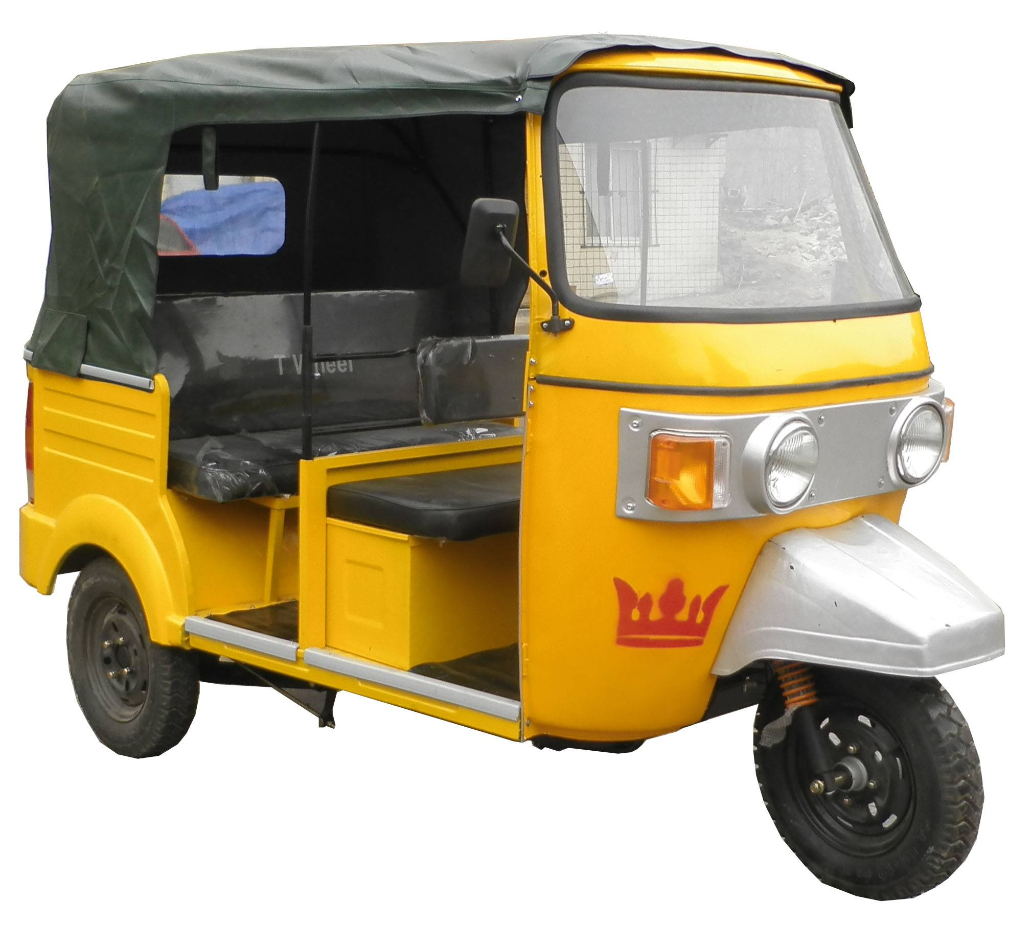 Piaggio Tricycle with rear engine, Taxi Tricycle, Moto Taxi