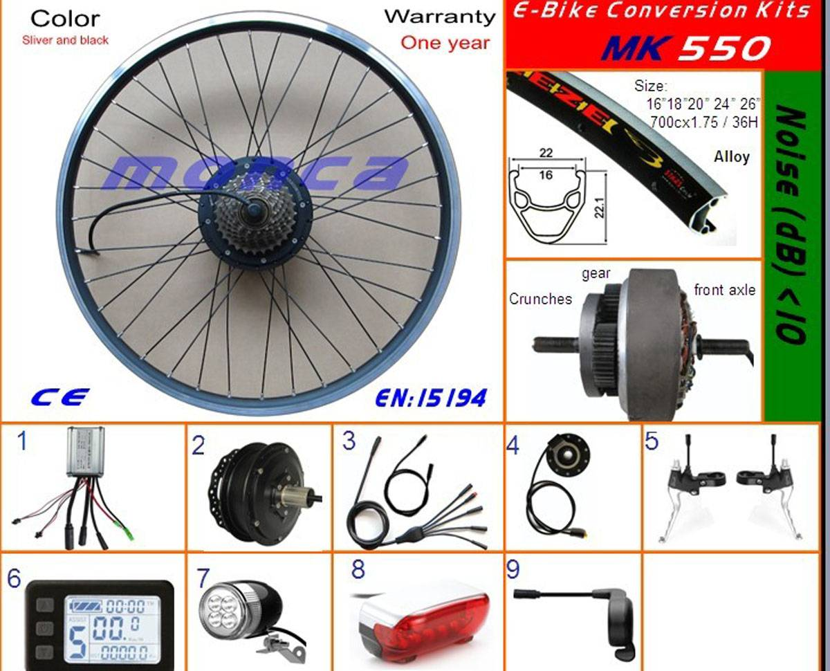 Fast Sell 36V 9A E Bike Parts with Tektro Brake