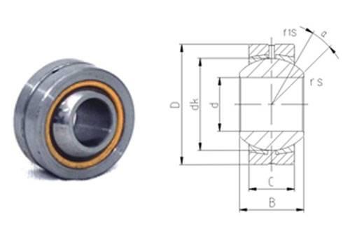 Spherical plain bearing GEBK14S