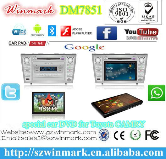manufacture car tablet with patent for Toyota CAMRY 2007-2011,capacitive multi-touch screen and andr