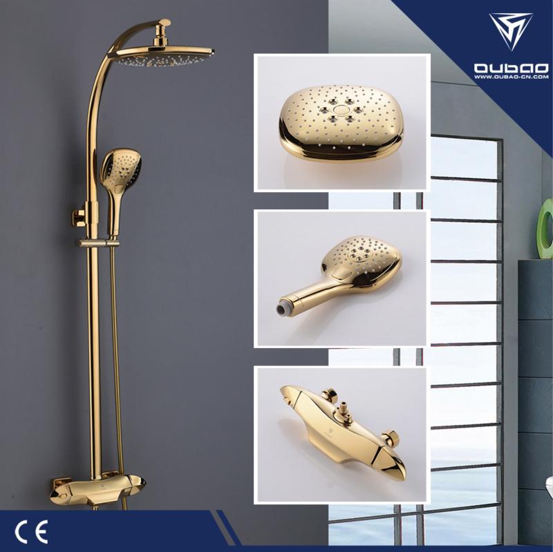 Brass Shower Faucet Set Gold Shower Mixer Shower Set