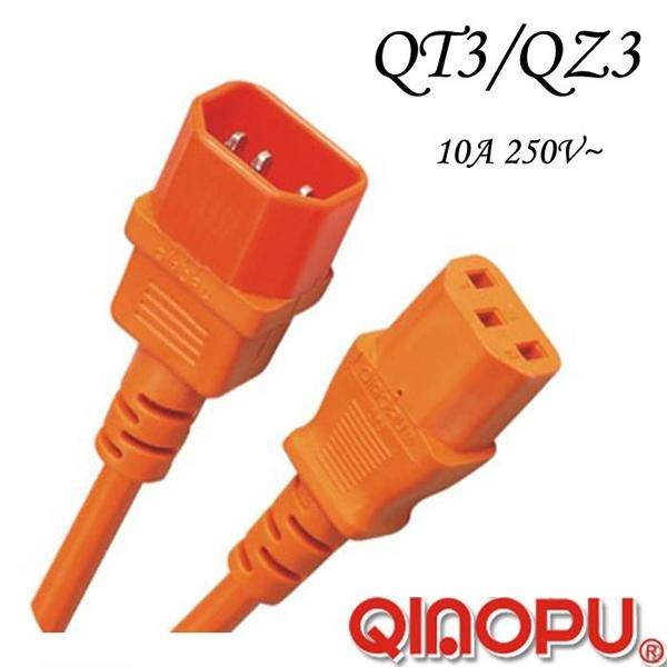 IEC60320 C14 to C13 Connector (QZ3/QT3)