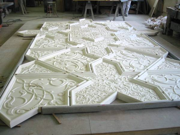 Making Decorative Cornice Gypsum Crown Moulding/Top Quality Artistic Design Ceiling Gesso Moulding