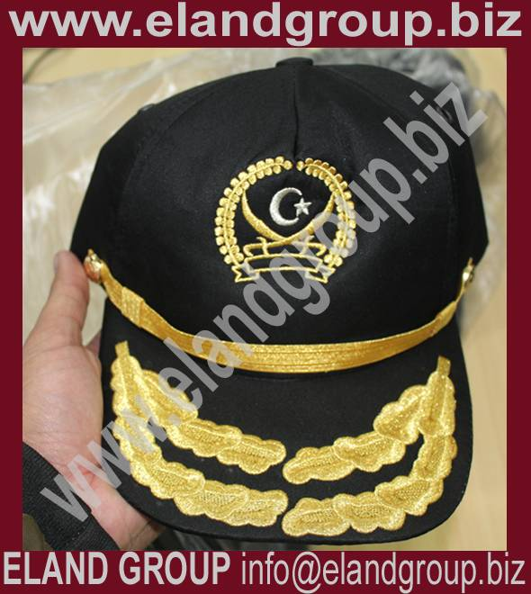 Embroidered Officer Peaked Cap