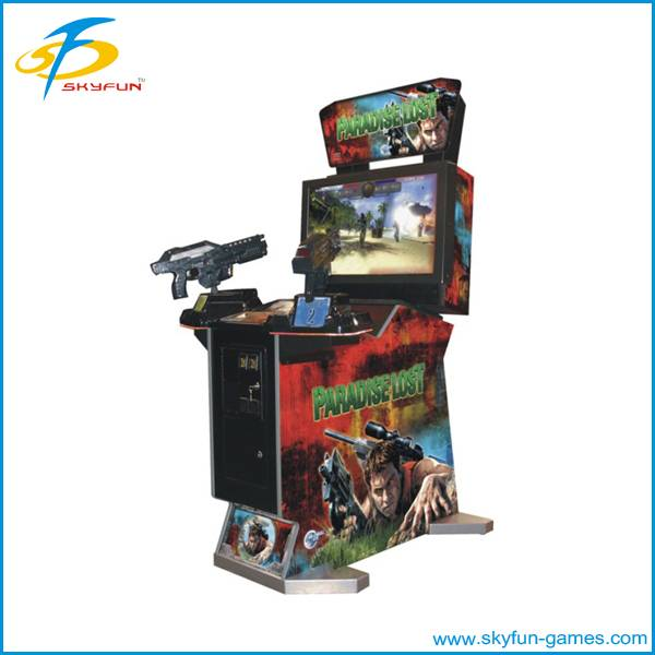 Entertainment coin operated shooting gun game machine