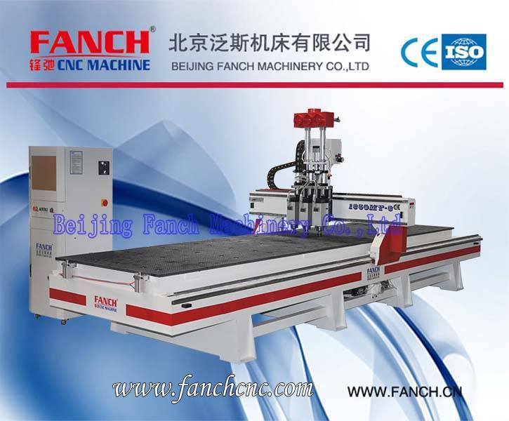 Offer Wood Three-Spindle Cutting/Drilling/Engraving Machine