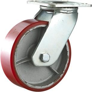 Heavy Duty Double Ball Bearing Iron Core PU Caster