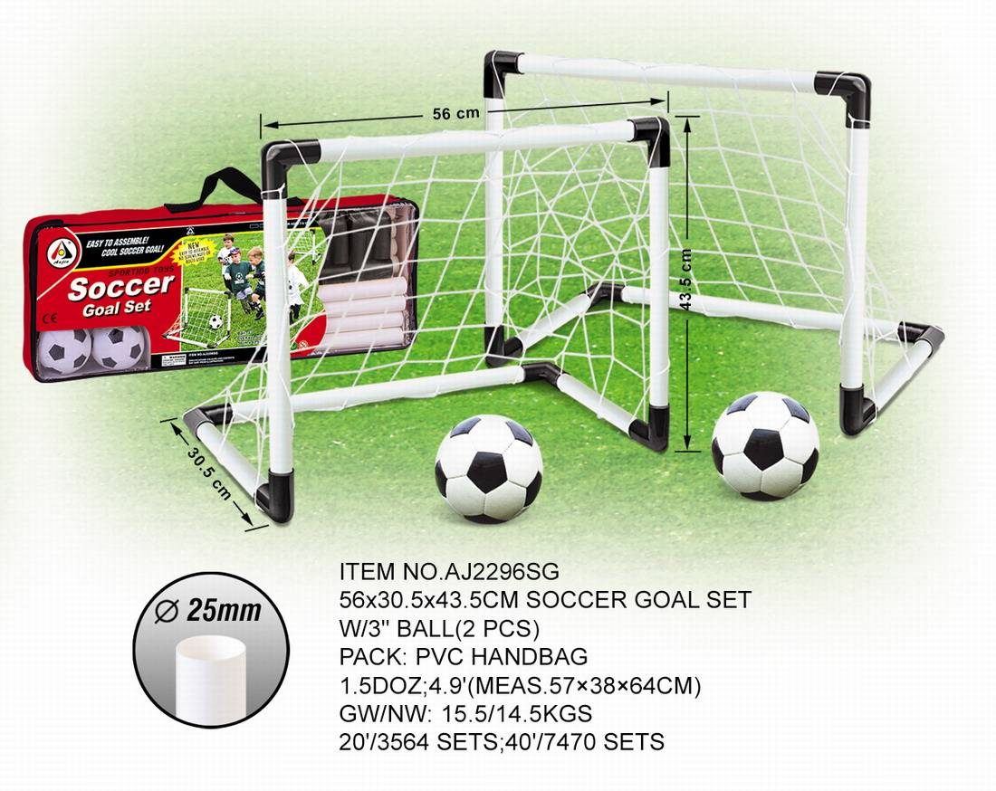 Plastic soccer goal set