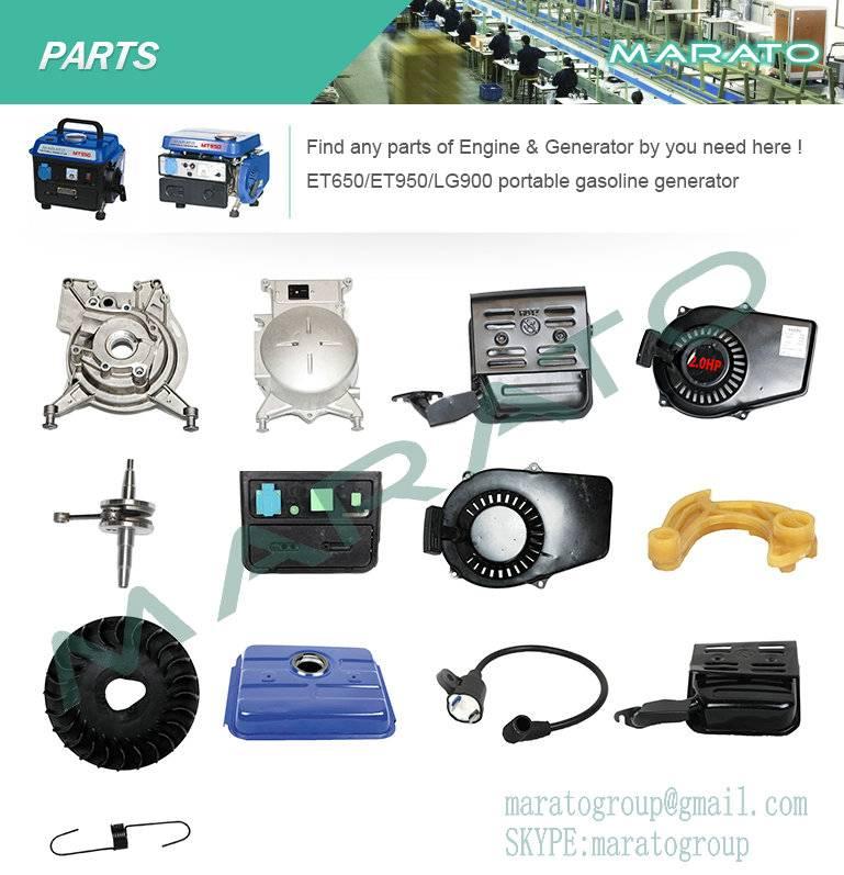 ET950 portable gasoline generator spare parts