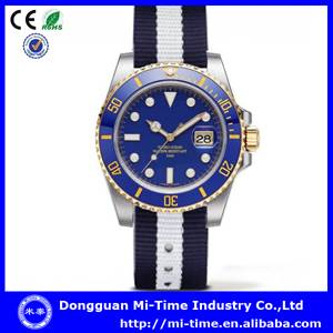 New stainless steel nylon fabric watch china supplier