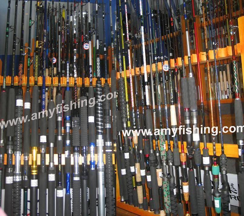 fishing rod, bass rod, surf rod, carp rod, boat rod, trout rod, pole rod