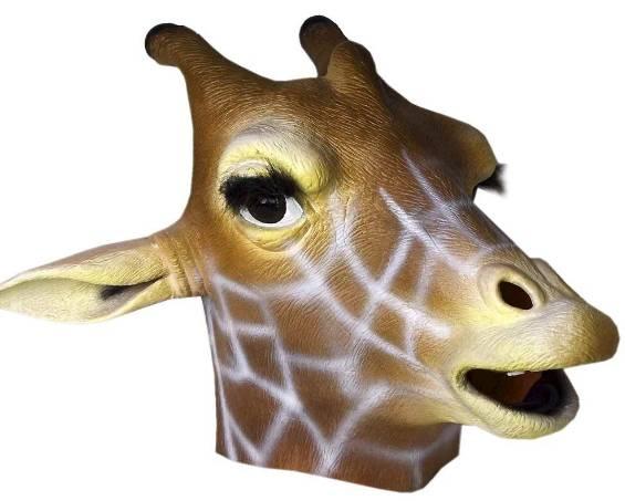 2014 Multicoloured Latex Giraffe Head Mask Costume