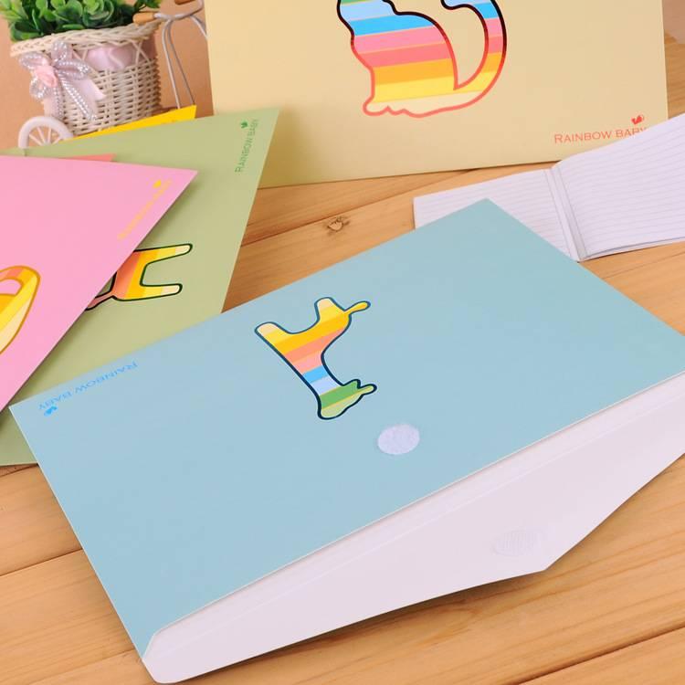 Rainbow Animal style paper folder