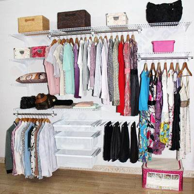 Ingenious Wire Shelving Closet system