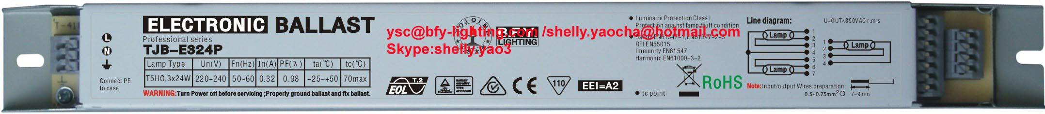 14W electronic ballast for t5 one fluorescent lamp