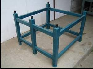 Recessed Or Angle Steel Material Granite Plate Stand