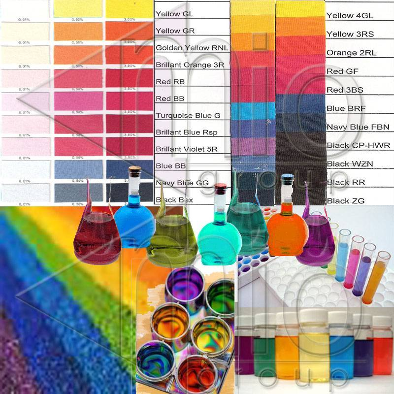 DYESTUFF (Dispers Dyes, Reactive Dyes, General Dyes, Special Group Dyes, Special Black Dyes)