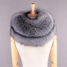 Wholesale Silver Fox Fur Scarf