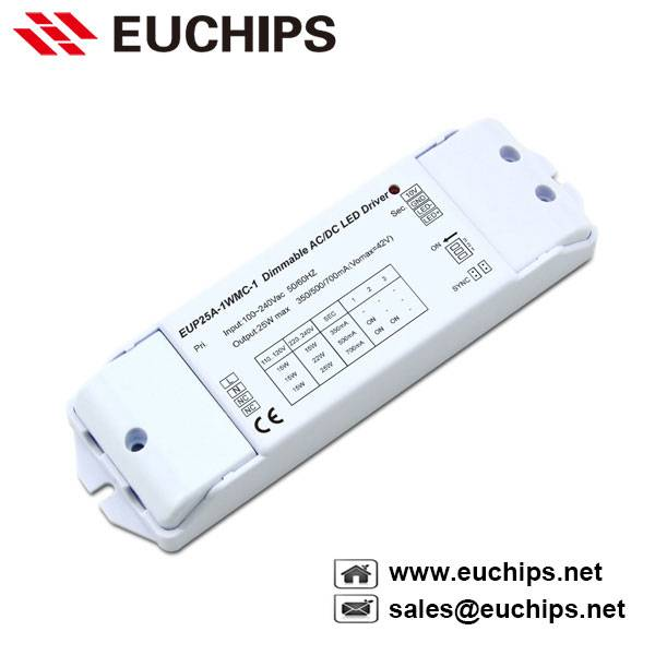 25W 350/500/700mA 1 channel 1-10v constant current led driver