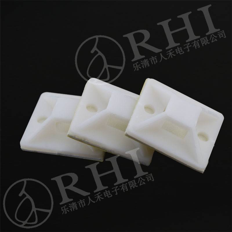 RHI Imported Green Glue tie mount, self adhesive wall tie mount94V-2 self-adhesive cable tie mounts