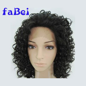 Quality 100% Indian Remy Human Hair Italian Yaki Straight Full Lace Wig, Stock Wig