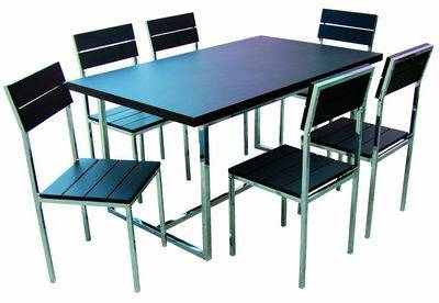 Best Selling MDF And Aluminium Table /chair Set Model0956