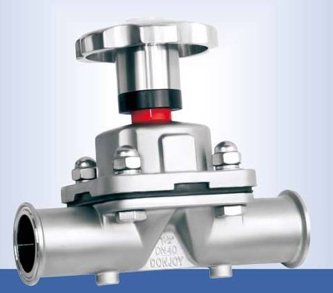 Clamp ss316l diaphragm valve with ss handle