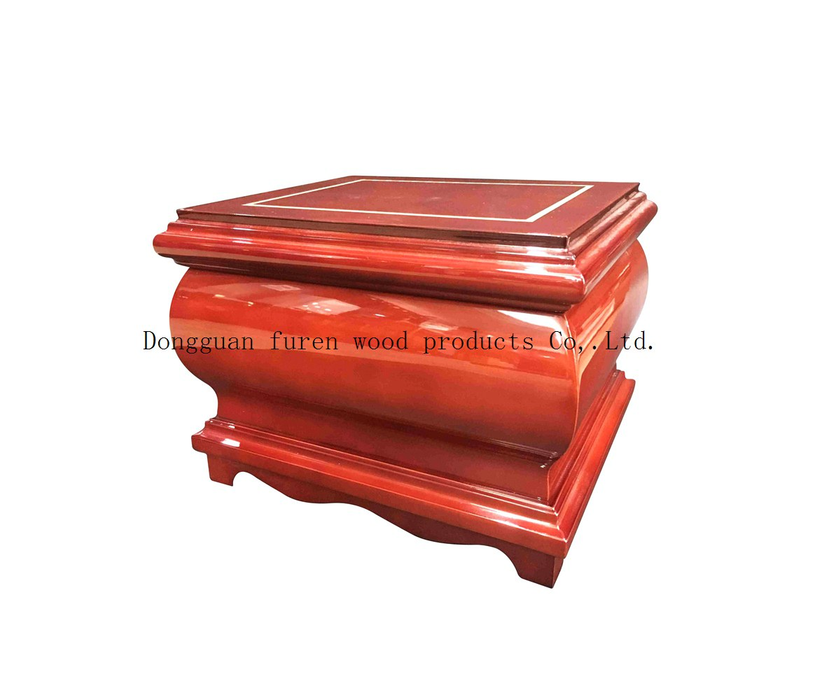 high quality customized solid wood cinerary casket or cremation casket urns