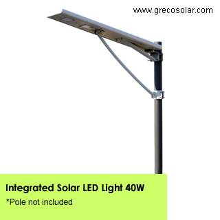 Integrated Solar Street Lights 40 Watt, Solar Street Lights with Light Sensors