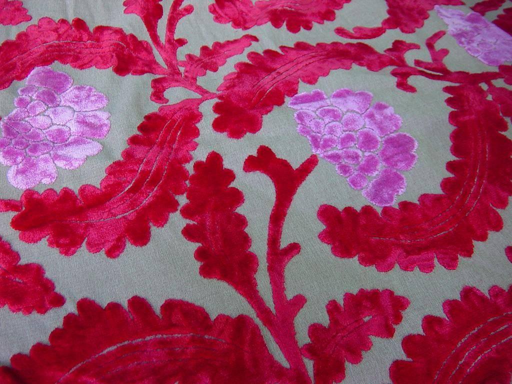 Cut Velvet Floral Upholstery Fabric Manufacturer Supplier