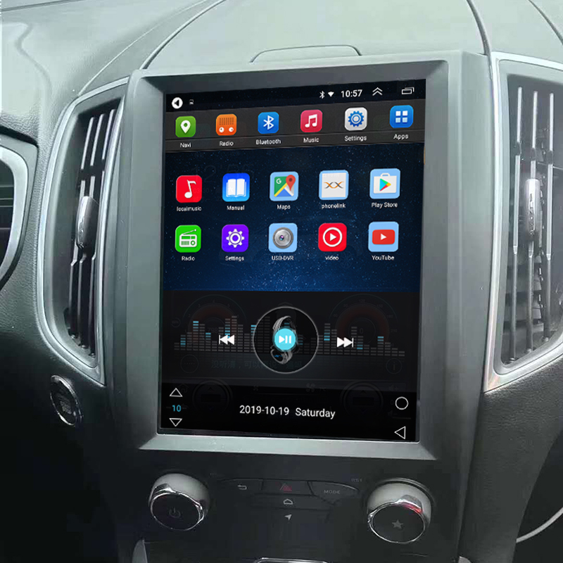 Tesla Style 10.4 Inch Android Car Multimedia Navigation For Ford Edge 2015-2019
