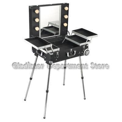 Beauty case with Trolly legs and light DY9606K