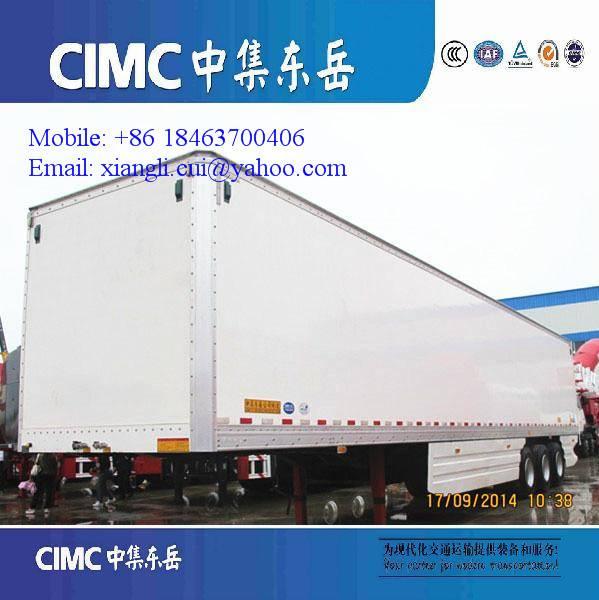 pvc dry van semi trailer